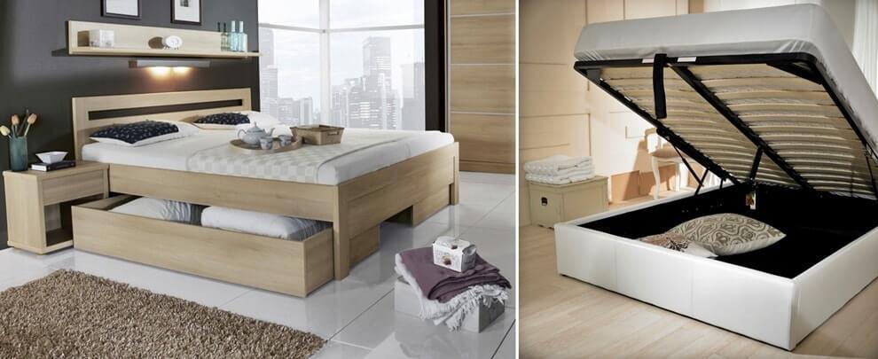 Какую кровать лучше выбрать: ящики для хранения в кровати