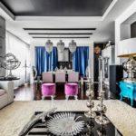 Дизайн интерьера гостиной в стиле фьюжн