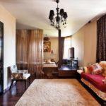 Дизайн интерьера гостиной в стиле фьюжн фото