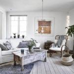 Скандинавский стиль в интерьере гостиной комнаты