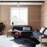 Нордический стиль в интерьере гостиной фото