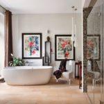 Дизайн ванной комнаты - фьюжн