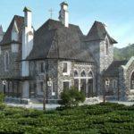 Проект коттеджа в стиле готика