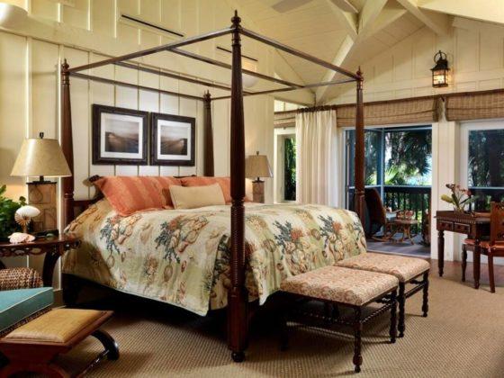 Дизайн спальной комнаты в колониальном стиле