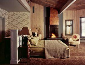 Интерьер спальной комнаты в стиле фьюжн фото