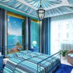 Интерьер спальной комнаты в средиземноморском стиле