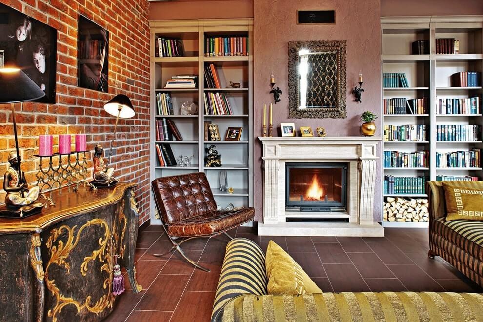Уютный интерьер в стиле фьюжн