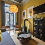 Гостиная комната в стиле фьюжн фото