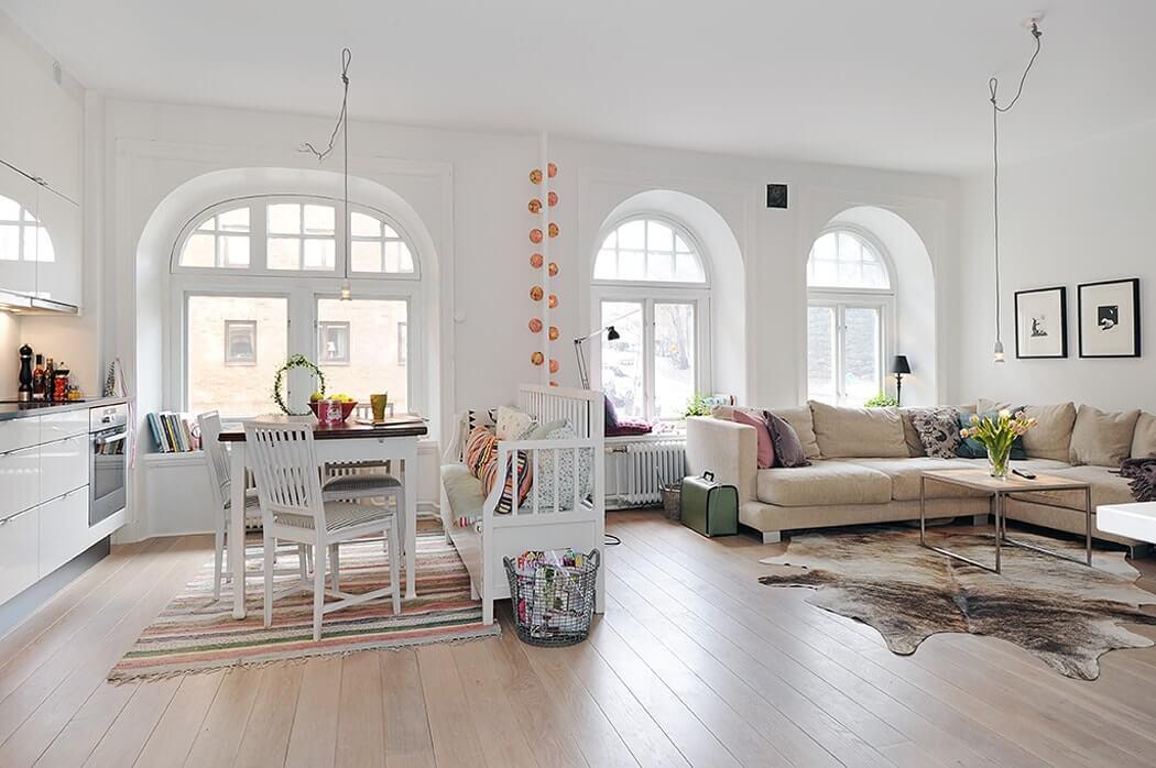 Оформление потолка в скандинавском стиле