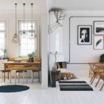 Гостиная-столовая в скандинавском стиле