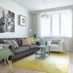 Интерьер гостиной в скандинавском стиле