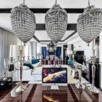 Роскошный интерьер просторной гостиной