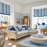 Интерьер гостиной комнаты в средиземноморском стиле