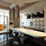 Интерьер в стиле техно - мебель