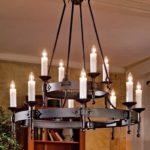 Стили светильников: люстра в романском стиле