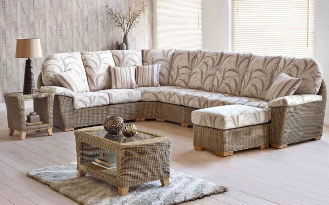 Плетеная мебель в интерьере 1