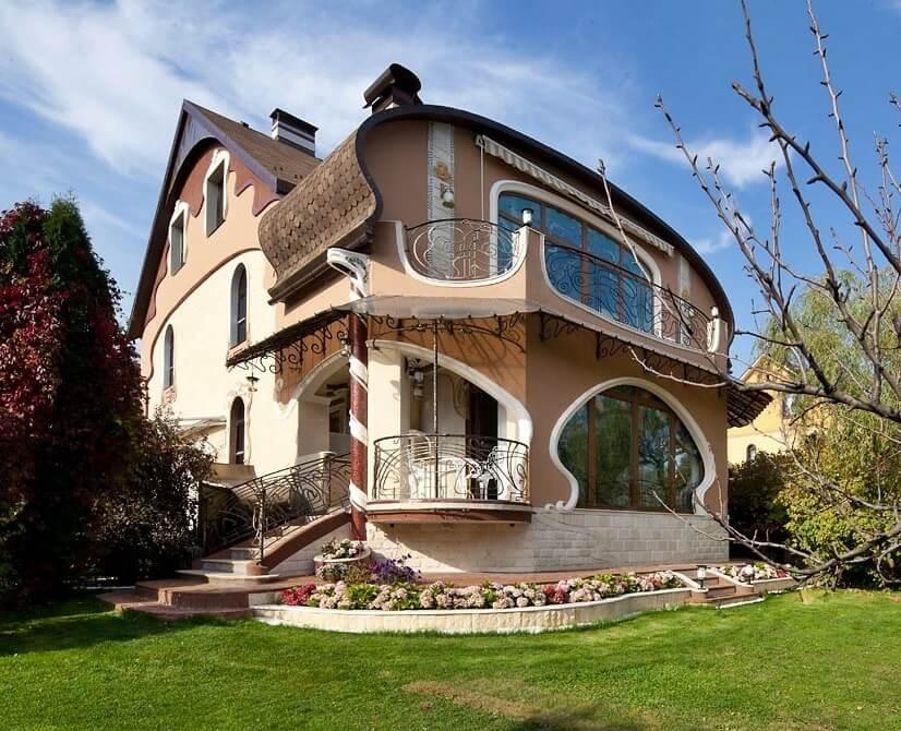 Необычные дома и коттеджи проекты фото этой рубрике