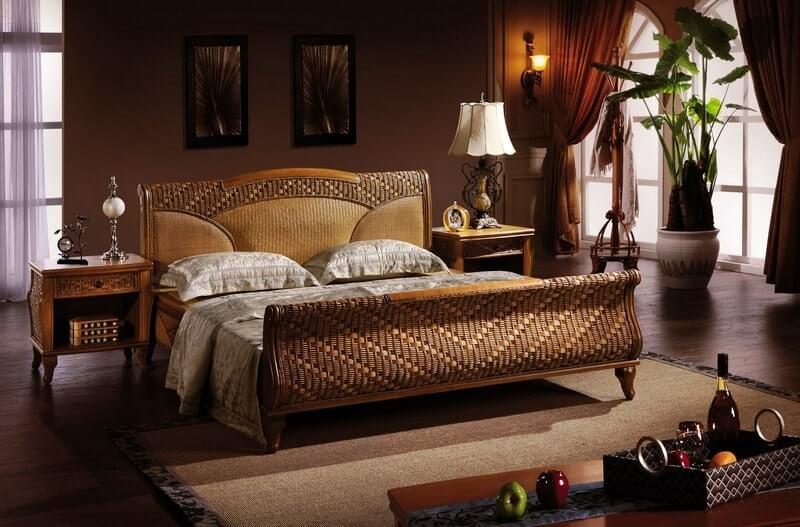 Плетеная мебель в интерьере 10