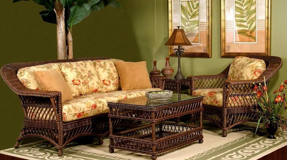 Плетеная мебель в интерьере 11