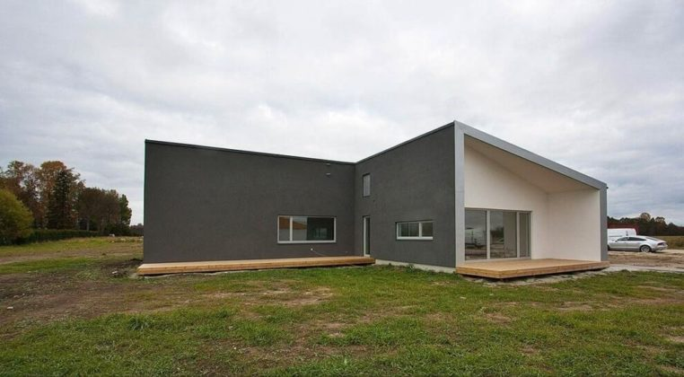 Загородный дом в стиле минимализм