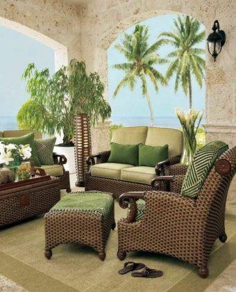 Плетеная мебель в интерьере 12