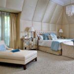Стиль лаунж в интерьере спальной комнаты - фото