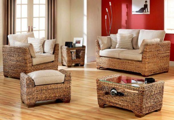 Плетеная мебель в интерьере 14