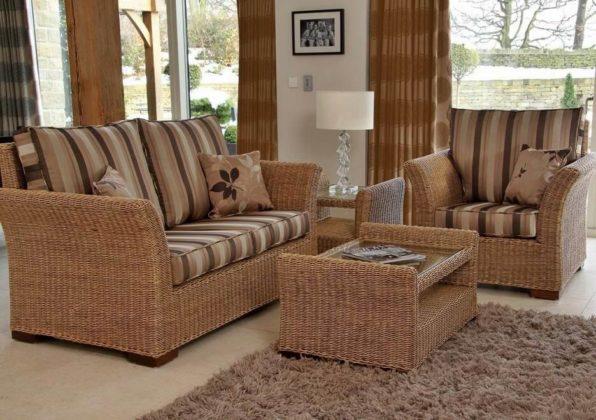 Плетеная мебель в интерьере 15