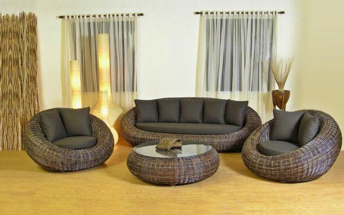 Плетеная мебель в интерьере 16