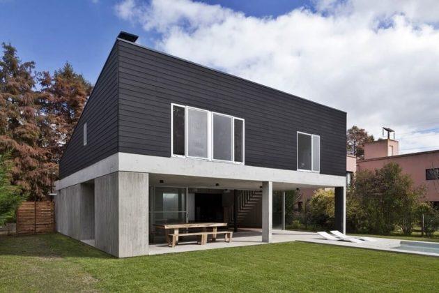 Загородный дом в стиле минимализм - фото