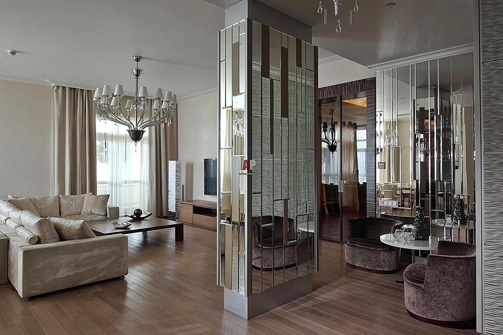 Зеркальные стены в квартире фото