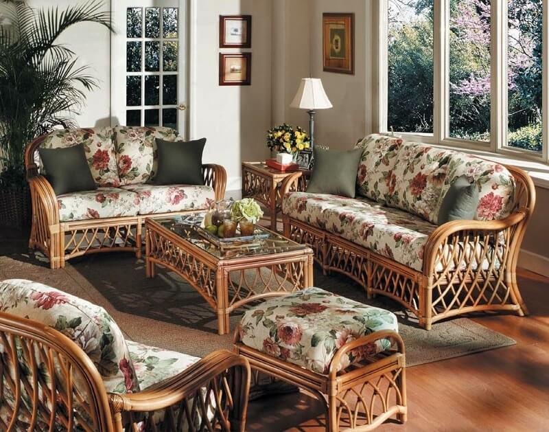 Плетеная мебель в интерьере 18