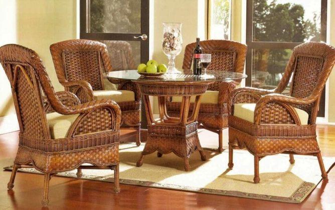 Плетеная мебель в интерьере 19