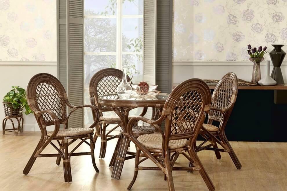Плетеная мебель в интерьере 2