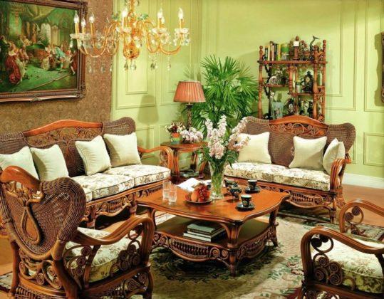 Плетеная мебель в интерьере 20