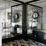 Оформление стен зеркалами