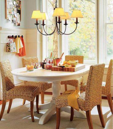 Плетеная мебель в интерьере 22