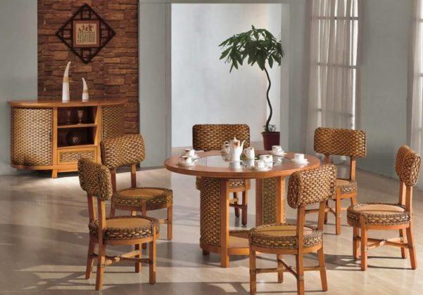 Плетеная мебель в интерьере 23