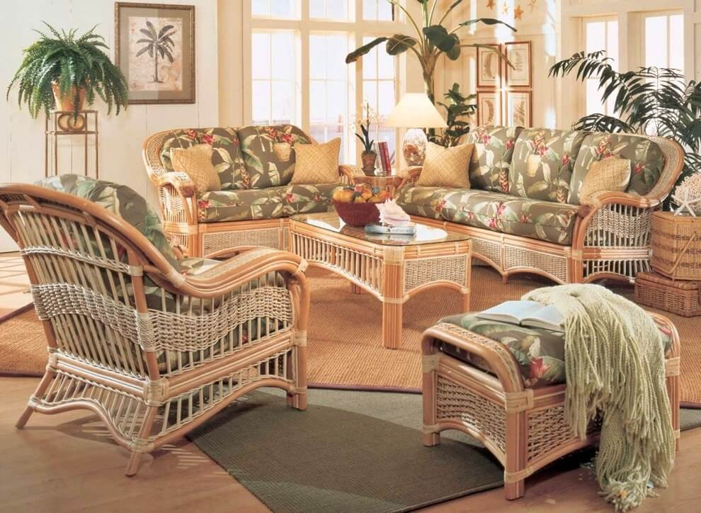 Плетеная мебель в интерьере 24