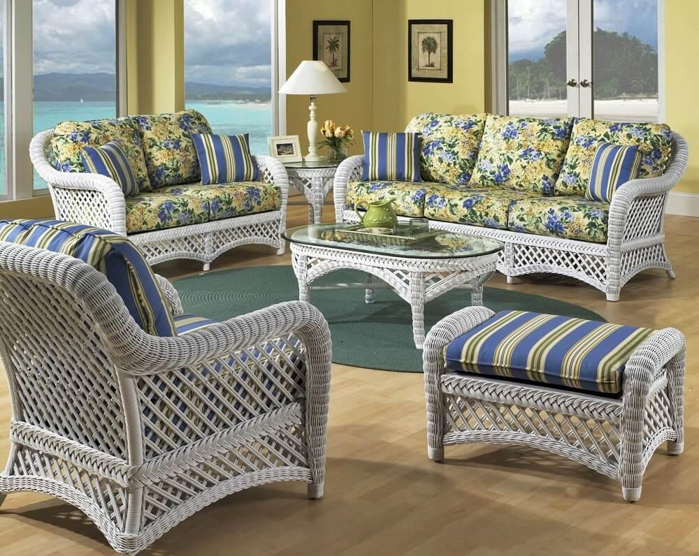 Плетеная мебель в интерьере 25
