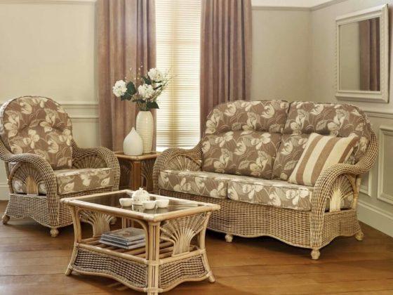 Плетеная мебель в интерьере 26