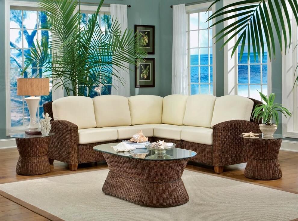 Плетеная мебель в интерьере 27