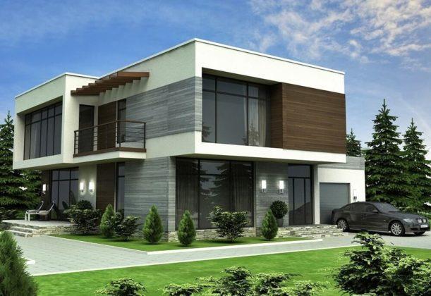 Проект двухэтажного дома в стиле минимализм