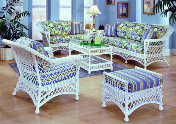 Плетеная мебель в интерьере 3