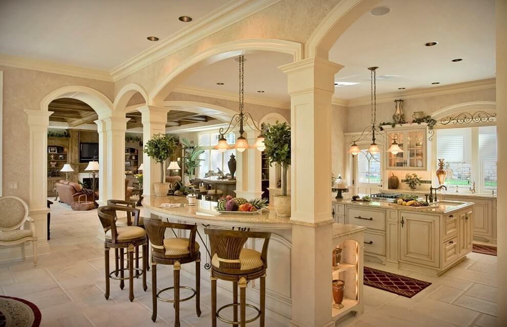 Потолок кухни в итальянском стиле
