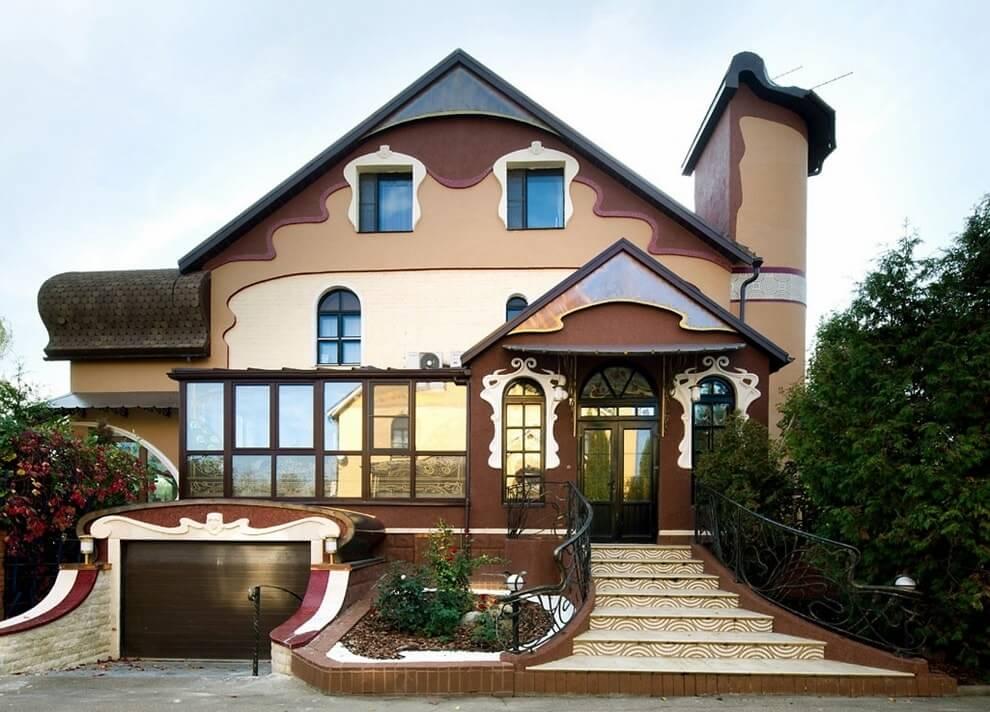 чек дизайн фасадов загородных домов фото более