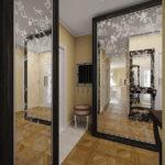Красивые зеркальные фасады с узором - фото