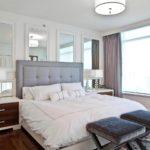 Стильное оформление стен спальной комнаты