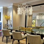 Дизайн оформления столовой с применением зеркального полотна