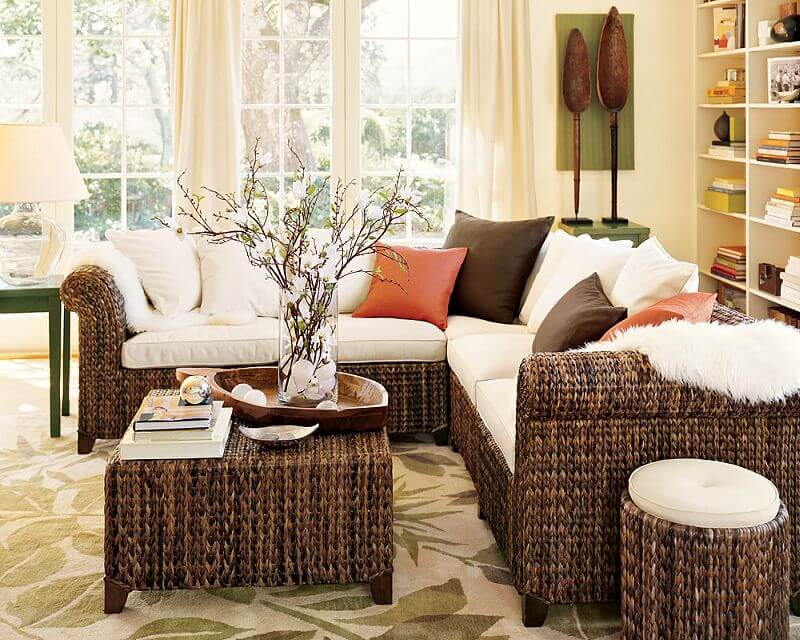 Плетеная мебель в интерьере 4